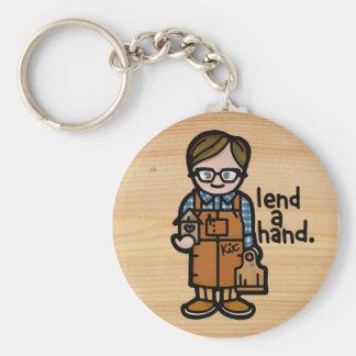 keys to the woodshop. keychain