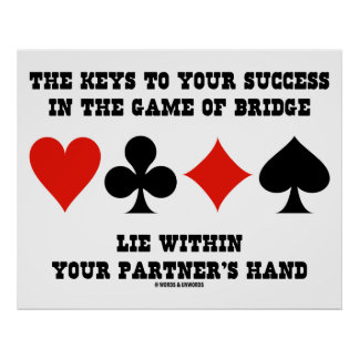 Keys To Your Success In Game Of Bridge Lie Within Poster