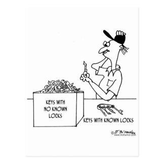 Keys With No Known Locks Postcard