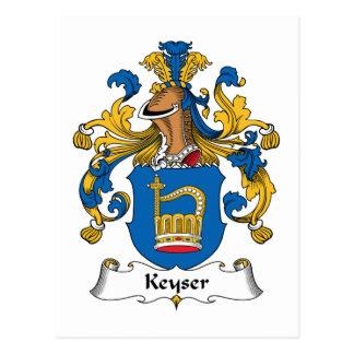 Keyser Family Crest Postcard