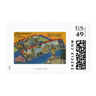 Keyser, West Virginia - Large Letter Scenes Postage