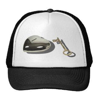 KeySilverHeart112010 Trucker Hat