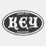 Keystone Black Grunge Sticker