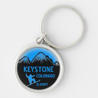 Keystone Colorado blue snowboard art keychain