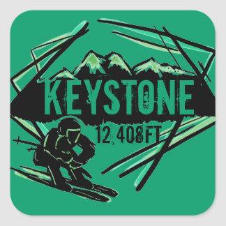 Keystone Colorado green elevation stickers