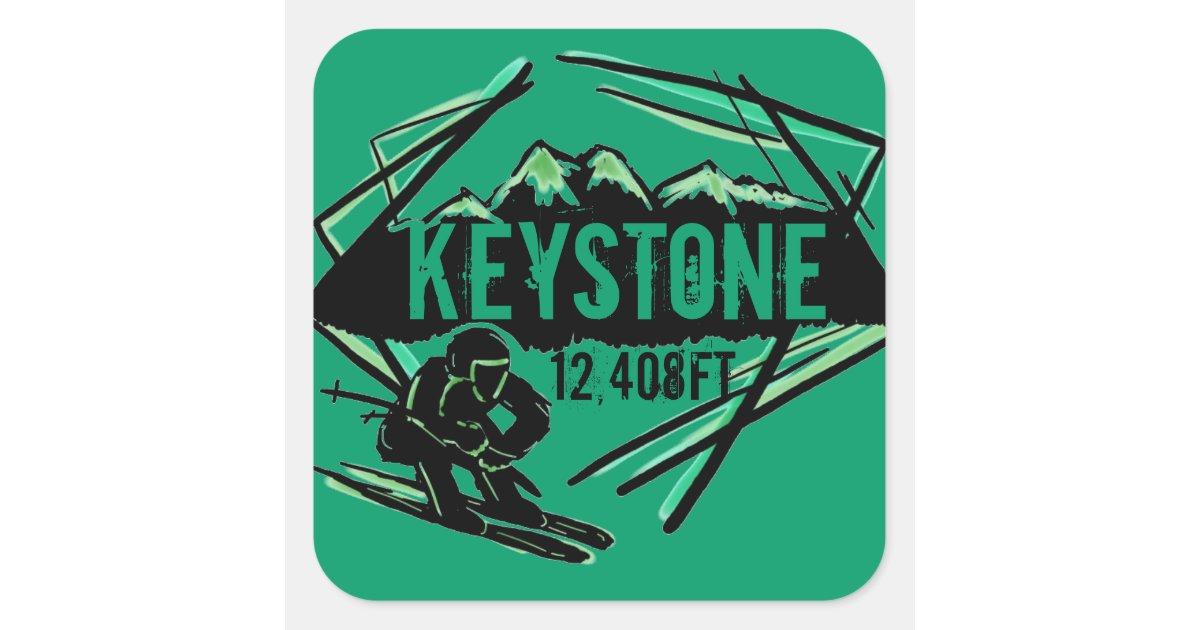 Keystone Elevation : Keystone colorado green elevation stickers zazzle