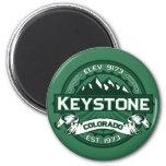"Keystone ""Colorado Green"" Logo 2 Inch Round Magnet"