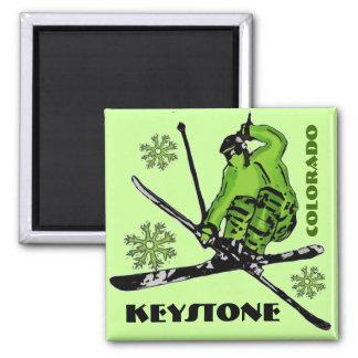 Keystone Colorado green theme ski magnet