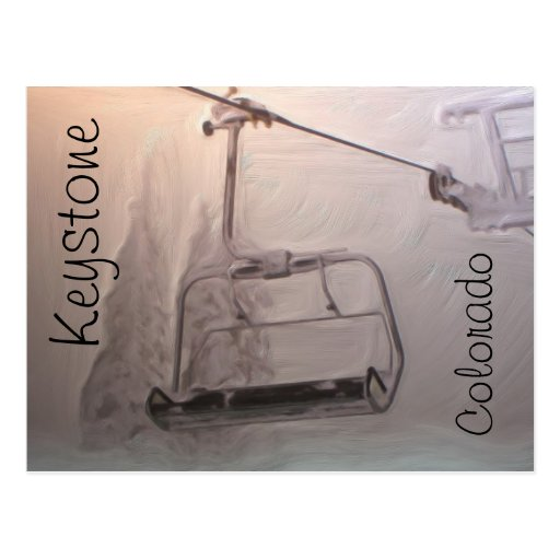 Keystone Colorado lift postcard