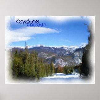 Keystone Colorado paint poster