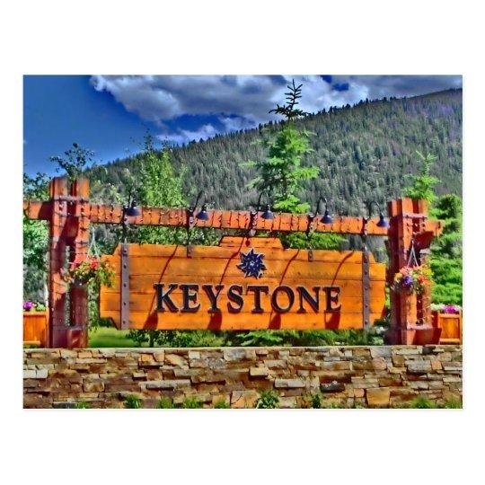 Keystone Colorado postcard