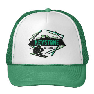 Keystone Colorado ski elevation green hat