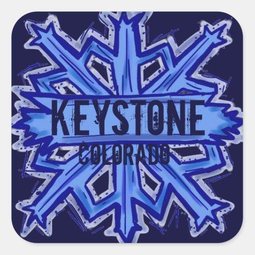 Keystone Colorado winter snowflake stickers