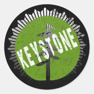 Keystone Decay Logo Classic Round Sticker