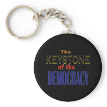 Keystone of Democracy Keychain
