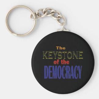 Keystone of Democracy Keychain