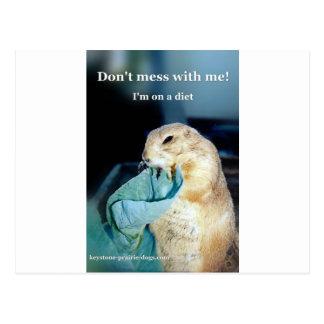 Keystone Prairie Dog diet meme Postcard