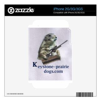 Keystone Prairie Dog rifle caption Skin For iPhone 2G