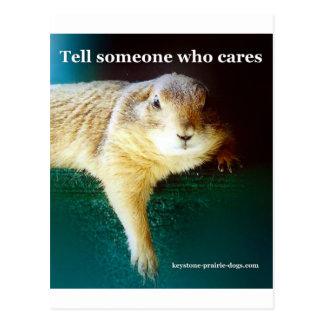 Keystone Prairie Dogs tell someone who cares Postcard