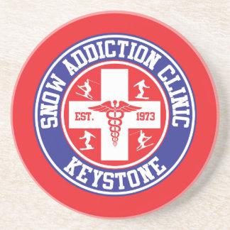 Keystone Snow Addiction Clinic Drink Coaster