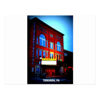 KEYSTONE THEATRE - TOWANDA, PENNSYLVANIA POSTCARD