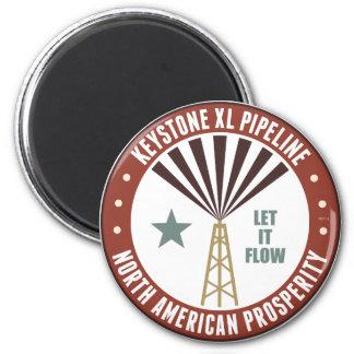 Keystone XL Pipeline 2 Inch Round Magnet