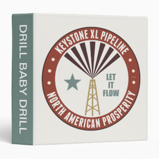 Keystone XL Pipeline 3 Ring Binder