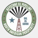 Keystone XL Pipeline Classic Round Sticker