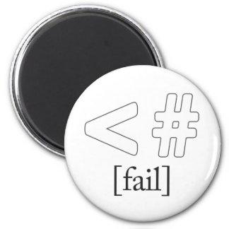 Keystroke (heart) Fail < # 2 Inch Round Magnet