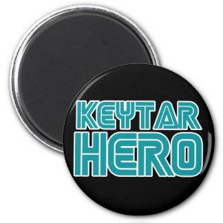 Keytar Hero Gamer wackiest best seller 2 Inch Round Magnet