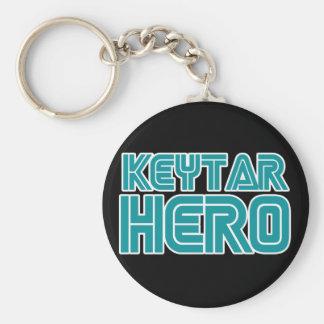 Keytar Hero Gamer wackiest best seller Basic Round Button Keychain