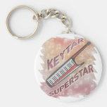 Keytar Superstar Keychain