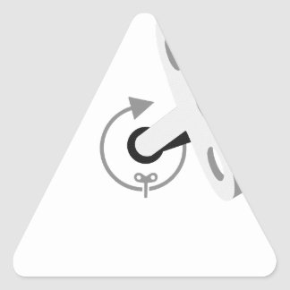 KeyWindUp Wind Up Key Triangle Sticker
