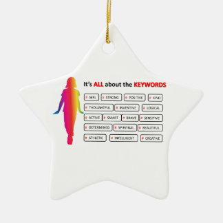 Keywords Girl Double-Sided Star Ceramic Christmas Ornament