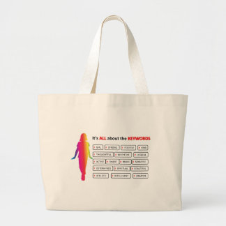 Keywords Girl Large Tote Bag