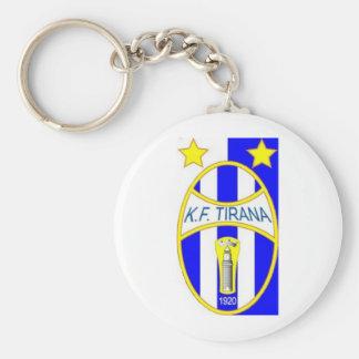 kf tirana logo basic round button keychain