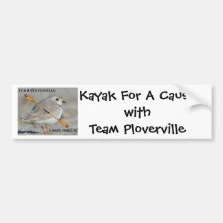 ¡KFAC! Kajak para un withTeam Ploverville de la ca Pegatina De Parachoque