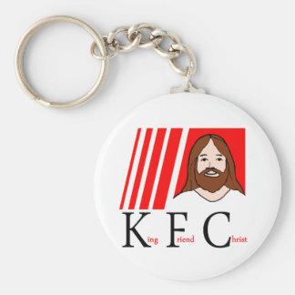 KFC CHRIST TEE BASIC ROUND BUTTON KEYCHAIN