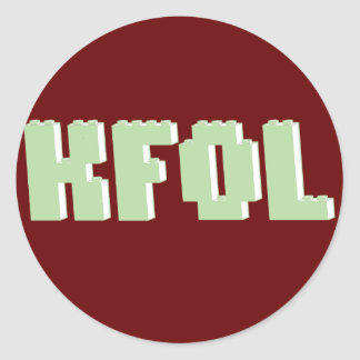 KFOL Kid Fan of ...... by Customize My Minifig Classic Round Sticker
