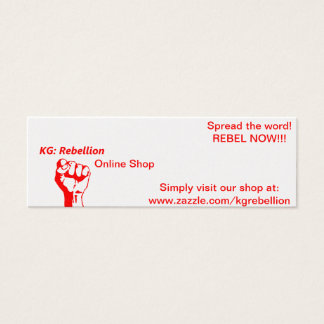 """KG: Rebellion Supporter """"Spread-The-Word"""" Cards"""