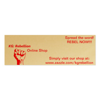 """KG: Rebellion Supporter """"Spread-The-Word"""" Cards Double-Sided Mini Business Cards (Pack Of 20)"""