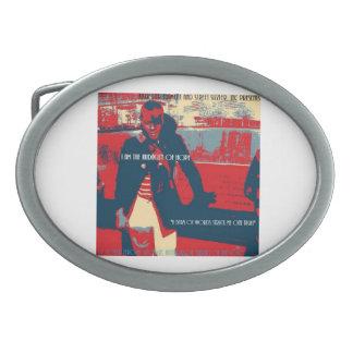 KG_WEAR Pres: Un haz de las hebillas del cinturón  Hebilla Cinturón Oval