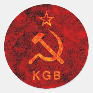 KGB CLASSIC ROUND STICKER