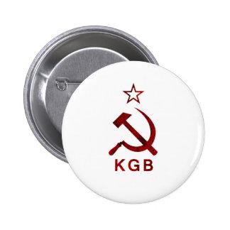 KGB Grunge 2 Inch Round Button