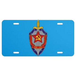 KGB LICENSE PLATE