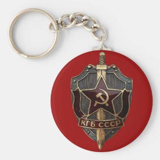 KGB Shield Basic Round Button Keychain