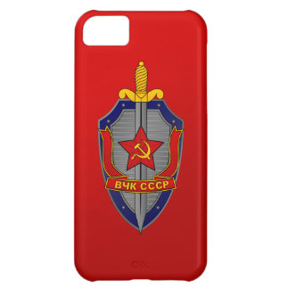 KGB Shield on Red iPhone 5C Cases