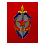 KGB Shield on Red Poster