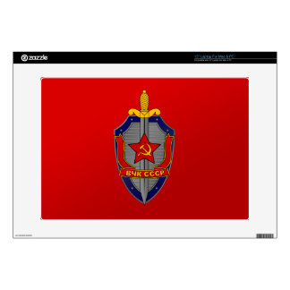 "KGB Shield on Red 15"" Laptop Decal"