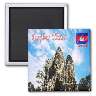 KH - Cambodia - Angkor Thom - Victory gate 2 Inch Square Magnet